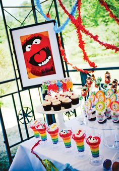 muppet-art-print-party-decor Griffin's next birthday. This kid is obsessed with Muppets. I'm so proud. :D