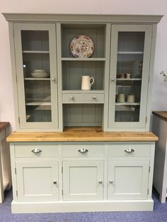Dresser with Rustic Plank top painted in F&B Blue Gray.