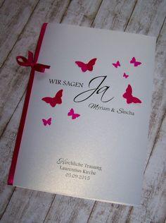 Kirchenheft Hochzeit pink