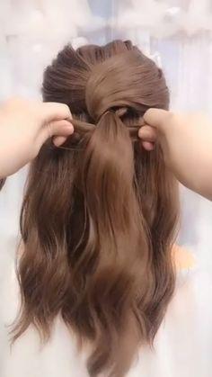 tips videos Elegant hairstyles Easy Hairstyles For Long Hair, Elegant Hairstyles, Girl Hairstyles, Casual Wedding Hairstyles, Pretty Hairstyles, Braided Hairstyles, Hairstyles Videos, School Hairstyles, Hair Up Styles