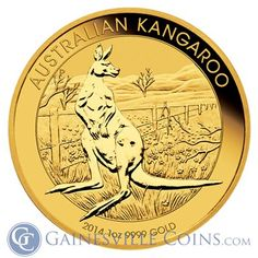 Buy 1 oz Kangaroo Gold Coins from Money Metals Exchange. From the Perth Mint, These Beautifully Made Australian Gold Coins can be Bought at the Lowest Premium Online! Gold Bullion Bars, Bullion Coins, Gold Coins For Sale, Gold Eagle Coins, Gold And Silver Coins, Gold Stock, Mint Coins, World Coins, Coin Collecting