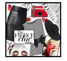 """""""stripes!"""" by ina-kis ❤ liked on Polyvore featuring NARS Cosmetics, Jane Iredale, Dsquared2, Rochas, WearAll, Jimmy Choo and Eugenia Kim"""