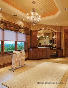 A Lutron lighting control system gives you the ability to control lights and shades with one button press--and in any room in your house.  www.automation-design.com