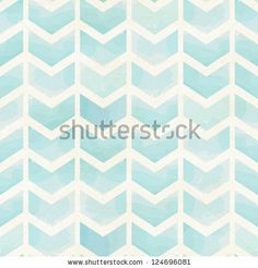Seamless geometric watercolor chevron pattern on paper texture by Togataki, via ShutterStock