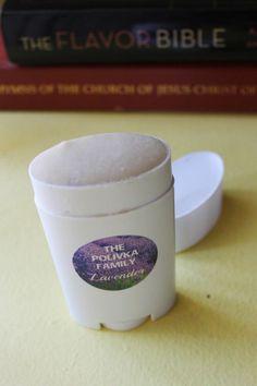 Homemade Deodorant recipe