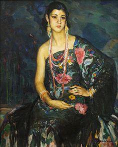 complemento del vestuario femenino. Fue inmortalizado por pintores como Joaquín Sorolla, Hermen Anglada Camarasa, Ramón Casas o Julio Romero de Torres.