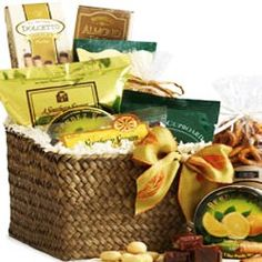 All-Time Favorites Snacking Gourmet Food Gift Basket - SMALL gourmet-seafood -gifts
