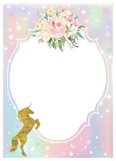 Tarjetas invitacion unicornio