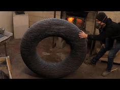 SCULPTING TORUS in SLATE | STONE ART | James Parker Sculpture - YouTube