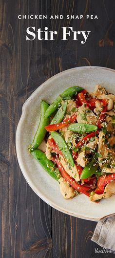 if you have five ingredients, a few pantry staples and 20 minutes, you can make chicken and snap pea stir-fry. Save and make it this week.