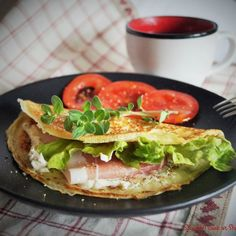Super quick and easy crepes recipe with many healthy and fancy variations of fillings. Try it!
