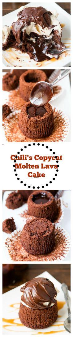 Chili's Copycat Molten Lava Cakes ohsweetbasil.com.