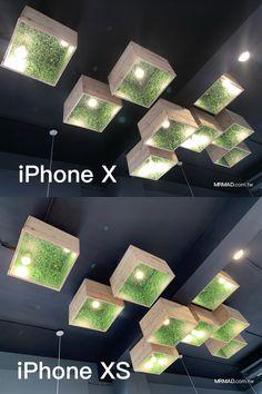 iPhone XS開箱評測:深入與前一代 iPhone X 外型與拍照差異 - 瘋先生 Pizza Nostra, Barber Shop, Lightning, Iphone, Chandelier, Restaurant Ideas, Ceiling Lights, Patio, Display