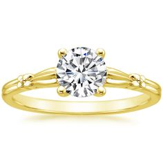 18K Yellow Gold Primrose Ring from Brilliant Earth