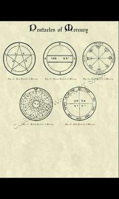 Pentacles of Mercury - King Solomon