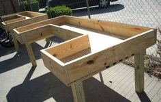 A great wheelchair accessible potting bench