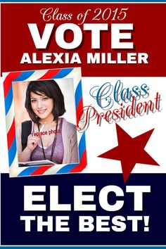 high school student council election poster flyer template