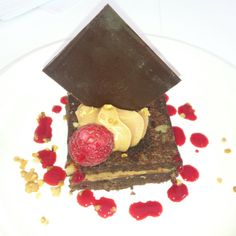 Raspberry brownie from Gordon Ramsey @ Taste of Dublin