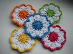 Lovely coasters. Fast and easy to crochet