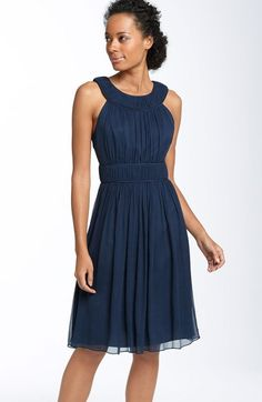Free shipping and returns on JS Collections Cutaway Shoulder Chiffon Dress at Nordstrom.com. Tonal piping outlines the curved neckline and Empire waist of a shoulder-baring dress fashioned with an ethereal overlay of pleated chiffon. The back keyhole adds subtle allure.