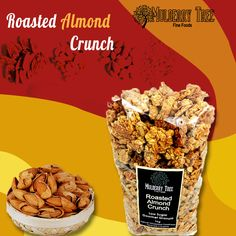 Roasted Almond Crunch Perfect for the Acai Bowl Low Sugar Granola, Vegan Granola, Crunchy Granola, Healthy Cereal, Easy Healthy Breakfast, Whole Food Recipes, Snack Recipes, Snacks, Granola Brands