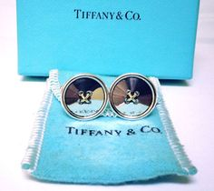 TIFFANY & CO. Cuff Links Gold And Silver by STUNNINGCOLLECTIBLES