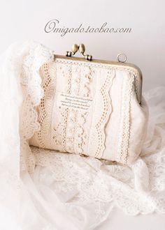 口金 Lace Purse, Diy Bags, Coin Purses, Vintage Purses, Bag Making, Greece, Vintage Outfits, Embroidery, Bridal