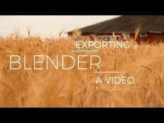 Rendering with Audio - Blender Tutorial - YouTube