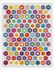 free english paper piecing single ring hexagon quilt pattern