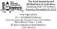 Michigan Arts and Craft Show .. Elf Shelf Craft Show In Troy, MI In November 2014