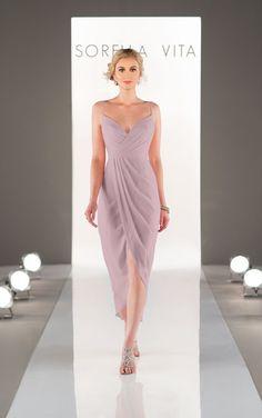 Midi-Length Bridesmaid Dress - Sorella Vita