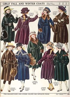 Keeping warm could be pricey in the the era before cheap, mass-produced fashion. The coats on this page of the Fall 1918 Sears catalog would range from $115-$200 if adjusted for inflation.