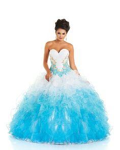 2 color quinceanera dresses