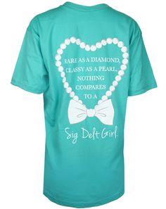 Sigma Delta Tau Rare as a Diamond Tshirt by Adam Block Design | Custom Greek Apparel & Sorority Clothes | www.adamblockdesign.com