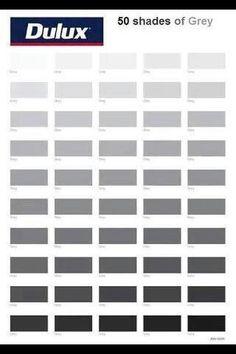 50 Shades of Grey ha ha ( I'm going to paint my bedroom gray)