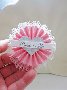 Glam Bridal Shower Completely Custom Gorgeous Wedding Party Badge. $19.99, via Etsy.