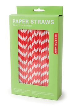 Red & White striped Straws