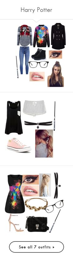 """""""Harry Potter"""" by korra181 ❤ liked on Polyvore featuring Geox, Boohoo, Levi's, Burberry, Solid & Striped, Lou & Grey, Converse, Fallon, Jennifer Behr and Giuseppe Zanotti"""