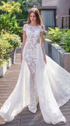 30 Fall Wedding Dresses With Charm ❤ fall wedding dresses sheath with cap slee. 30 Fall Wedding Dresses With Charm ❤ fall wedding dresses sheath with cap sleeves floral appliques with overskirt millanova Civil Wedding Dresses, Princess Wedding Dresses, Colored Wedding Dresses, Dream Wedding Dresses, Designer Wedding Dresses, Bridal Dresses, Autumn Wedding Dresses, Sheath Wedding Dresses, Wedding Dress Tea Length