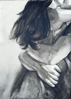 love, hold me forever, Couple Painting, Couple Art, Love Painting, Kiss Painting, Illustration Art Dessin, Art Sketches, Art Drawings, Romance Art, Art Of Love