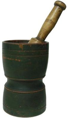 Early 19th century mortar and pestle.