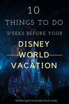 Your Walt Disney World Vacation is only a few short weeks away! You've made all your reservations, but that doesn't mean you're finished yet! Here's a list of things you should do in the weeks leading up to you WDW Vacation! Disney World Resorts, Disney World Tipps, Disney World Tips And Tricks, Disney Tips, Disney Parks, Disney Secrets, Disney Ideas, Disney Vacation Planning, Disney World Planning