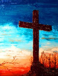 Glory In The Cross Painting  - Glory In The Cross Fine Art Print