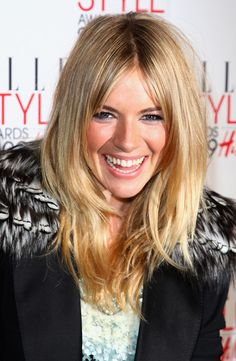 Sienna Miller Layered Cut - Sienna Miller looked super trendy wearing this choppy layered 'do at the Elle Style Awards.