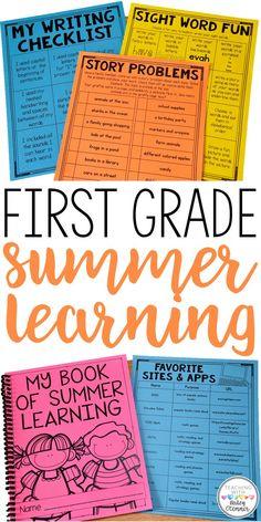 1st Grade summer hom