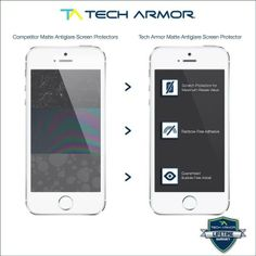 Tech Armor Apple iPhone 5/5c/5s Anti-Glare/Anti-Fingerprint (Matte) Screen Protectors [3Pack] Lifetime Warranty
