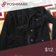 Liz Claiborne corduroy jacket/Blazer EUC! Black corduroy/jacket blazer. Liz Claiborne Jackets & Coats Blazers