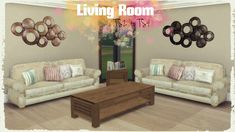 Living Room Conversions at Dinha Gamer via Sims 4 Updates