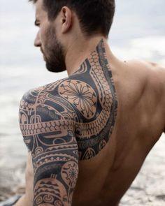 101 Amazing Samoan Tattoo Designs You Need To See! Tattoo Tribal, Polynesian Tribal Tattoos, Tribal Tattoos For Men, Geometric Tattoo Arm, Samoan Tattoo, Tattoos For Guys, Polynesian Tattoo Sleeve, Tatau Tattoo, Polynesian Men