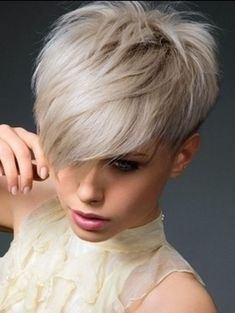 Funky short pixie haircut with long bangs ideas 102
